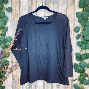 Standard James Perse 3/4 Sleeve Stripe Shirt